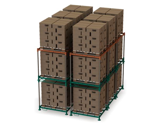 longpallet - conjunto empilhado