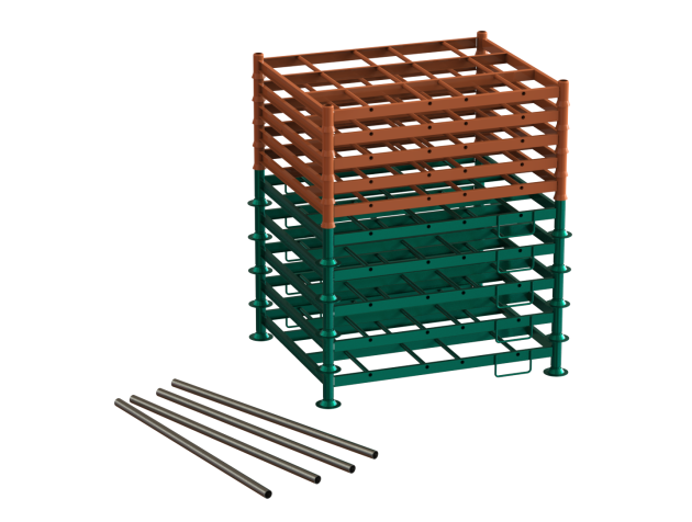 longpallet - modelo adaptado desmontado